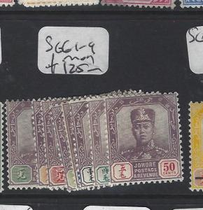 MALAYA  JOHORE  (P2005BB)  SULTAN  SG 61-9  MOG