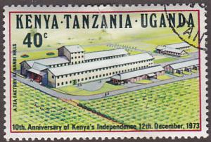 KUT 276 Hinged CTO 1973 Tea Factory, Nandi Hills