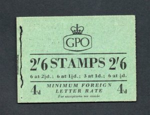 2/6 BOOKLET OCTOBER 1953 (PPR 15mm) SG F8 Cat £150