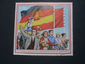 GERMANY DDR STAMP 1969 -20TH ANNIVERSARY- DEMOCRATIC OF GERMANY CTO S/S EST.$4