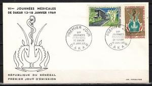 Senegal, Scott cat. 310-311/ Medical Meeting issue. First day cover.