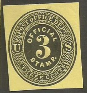 U.S. Scott #UO2 Official Embossed Stamped Envelope - Mint Single