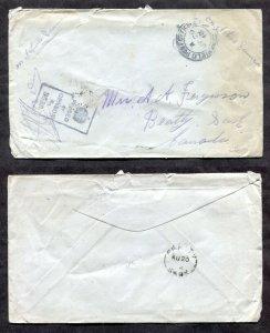 d205 - WW1 CEF 1918 Censored Cover to BEATTY Sask. Broken Circle Receiver