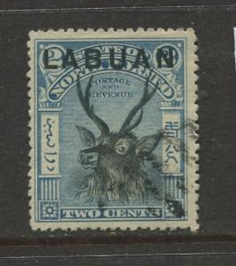 Labaun - Scott 73  - Overprint Issue - 1897 - FU -  Single 2c Stamp