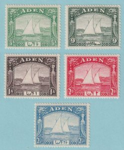 ADEN 1 - 5  MINT HINGED OG * NO FAULTS VERY FINE! - X414