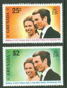 Grenada MNH 516-7 Princess Anne & Mark Phillips Royal Wedding