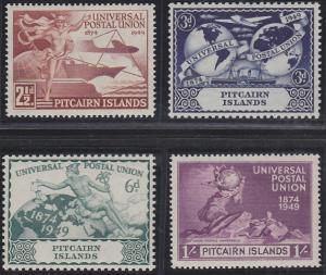 Pitcairn Islands 13-16 MNH (1949)