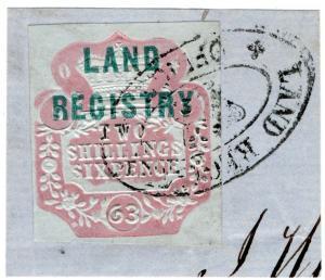 (I.B) QV Revenue : Land Registry 2/6d (1862)