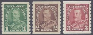 Canada Scott #228-30 Mint LH VF