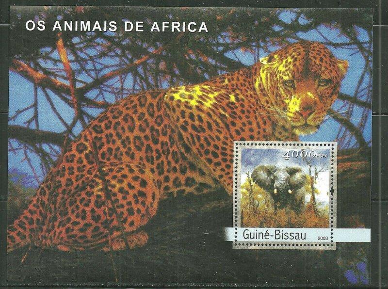 Guinea-Bissau MNH S/S Leopards Wildlife 2003