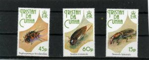 TRISTAN DA CUNHA 1993 FAUNA INSECTS SET OF 3 STAMPS MNH