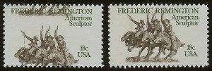 1934- 18c Huge Color Shift Error / EFO  Frederick Remington Mint NH