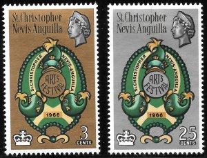 [3576] St Kitts & Nevis # 175 - 76 Mint Never Hinged