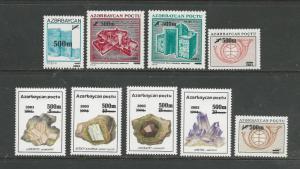Azerbaijan Scott catalogue # 757-765 Unused HR