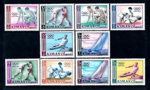 [43176] Ajman 1965 Olympic games Tokyo Boxing Judo Sailing MNH
