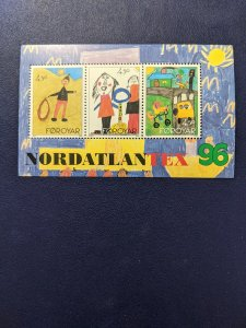 Faroe Islands 304 XFNH souvenir sheet, CV $3.50