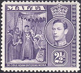 Malta # 196A mnh ~ 2½p De I'Isle Adam Entering Mdina