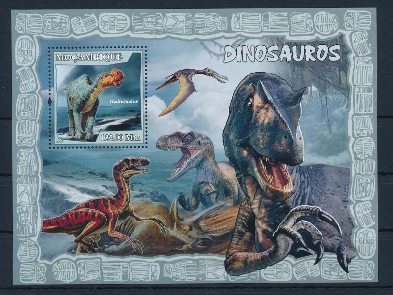 [31559] Mozambique 2007 Pre historic animals Dinosaurs MNH Sheet