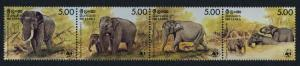 Sri Lanka 803 MNH WWF, Elephants