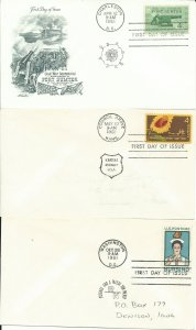 3 1961 United States First Day Covers, Plus Two Other Covers