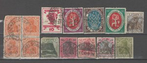 COLLECTION LOT # 4297 GERMANY 14 STAMPS 1902+ CV+$22