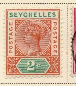Seychelles 1900 Early Issue Fine Mint Hinged 2c. 326864