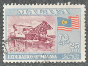 DYNAMITE Stamps: Federation of Malaya Scott #82 – USED