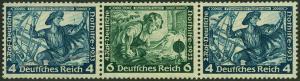 Germany 1933 Wagner Opera Mi W50 MH Se-Tenant Zusammendruck Strip 53122