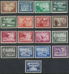 Sc# B148 / B159 Germany 1939 - 1941 MNH complete set CV $110.00