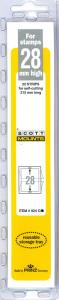 Scott Mounts Clear 28mm STRIP 215 ,(Pgk. 22)(00924C)