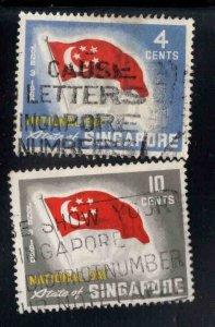 Singapore Flag stamps Scott 49-50 Used