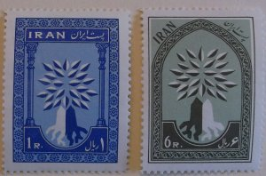 Iran 1154-55  MNH Full Set  Cat $3.25 UN, ,Oil Topical