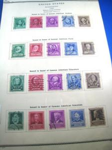 UNITED STATES - SCOTT # 859-893 - Used