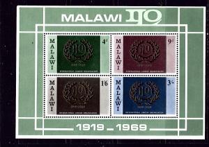 Malawi 113a MNH 1969 Intl Labor Organization S/S