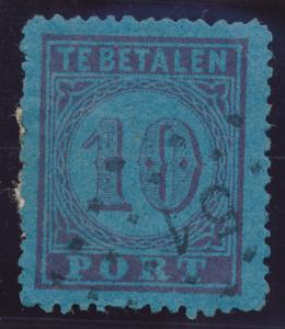 Netherlands Stamp Scott #J2, Used - Free U.S. Shipping, Free Worldwide Shippi...