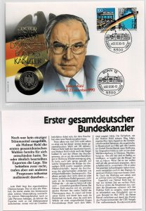 Germany 1989-92, German presidents , coin covers