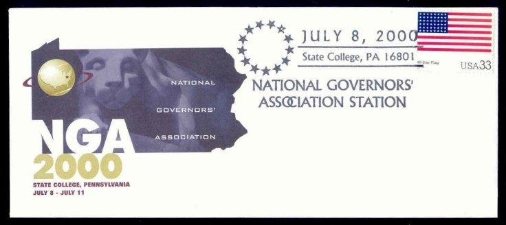 US 2000 State College PA National Governors' Association Meeting Cover