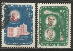 COLOMBIA  C429, C430  USED,  1962 ISSUES