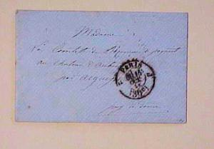 FRANCE  STAMPLESS   1858 PARIS 30cents