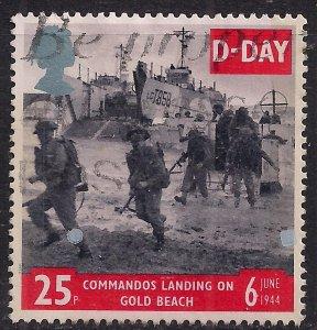 GB 1994 QE2 25p 50th Anniv. D-Day used stamp SG 1826 ( B1416 )