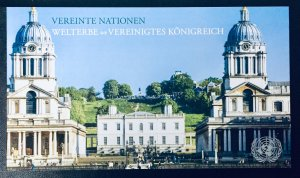United Nations Vienna #628 Prestige Booklet - United Kingdom. Full booklet. MNH