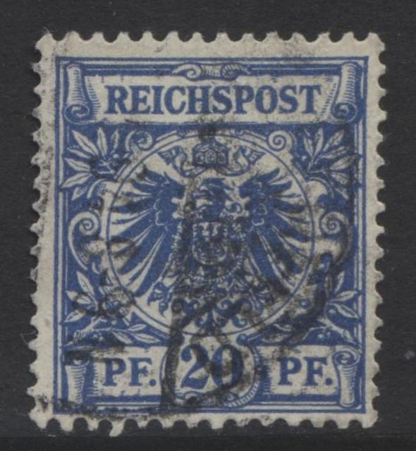 GERMANY. -Scott 49 - Definitives -1889 -Used - Ultra -Single 20pf Stamp1