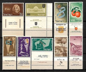 ISRAEL STAMPS, 1956 YEAR SET COMPLETE, MNH