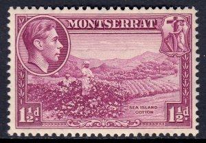 Montserrat - Scott #94a - P13 - MH - Ink offset on reverse - SCV $11.00