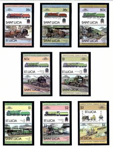 St Lucia 617-24 MNH 1983 Trains  (KA)