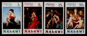 Malawi 178-81 MNH Christmas, Art, Madonna & Child, Raphael