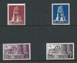 1937 Libya - N° 142/143 + Pa, 11° Fiera Di Tripoli, 4 Values MNH