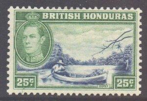 Br Honduras Scott 122 - SG157, 1938 George VI 25c MH*