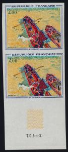 France 1330 imperf pair MNH Art, Painting , Boats, Andre Derain