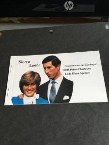 Sierra Leone 1981 Royal Wedding complete Booklet VF-NH 2015 Scott $8.